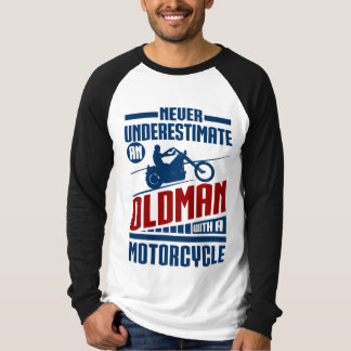 Old Man With a Motorcycle T-Shirt