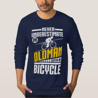 Old Man With  Bicycle T-Shirt