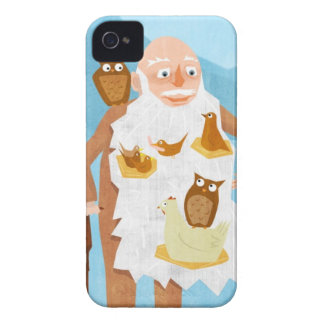 Old Man with Birds 3 Case-Mate iPhone 4 Case