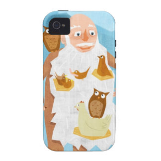 Old Man with Birds 3 iPhone 4/4S Case