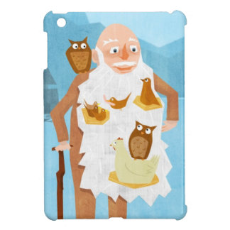 Old Man with Birds 3 iPad Mini Cover