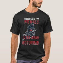 Old man with motorbike motorcycle rider T-Shirt