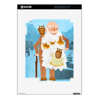 Old Man with Nests in Beard Decal For iPad 2