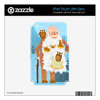Old Man with Nests in Beard Decal For iPod Touch 4G