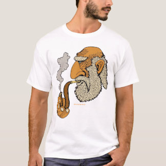 Old man with pipe cool urban graphic art t-shirt