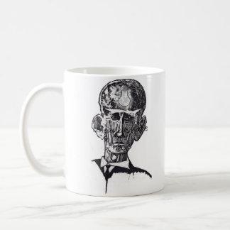 Old man woodblock mug