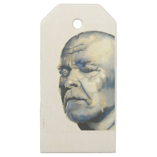 Old Man Wooden Gift Tags