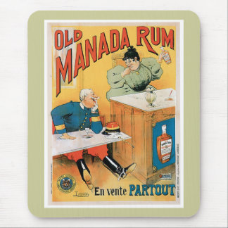 Old Manada Rum Vintage Drink Ad Art Mouse Pad
