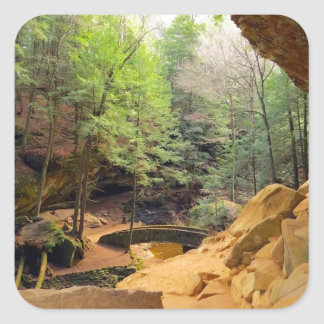 Old Man's Cave Square Sticker