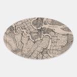 Old Map, Altamaha River, Georgia, USA - Brown Sticker