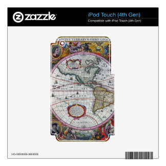 old map Americas Skins For iPod Touch 4G