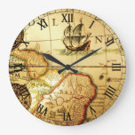 Old Map Clock