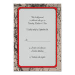 """Old Map, Europe - Brown Black 3.5"""" X 5"""" Invitation Card"""