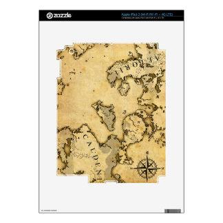 Old Map iPad 3 Skin