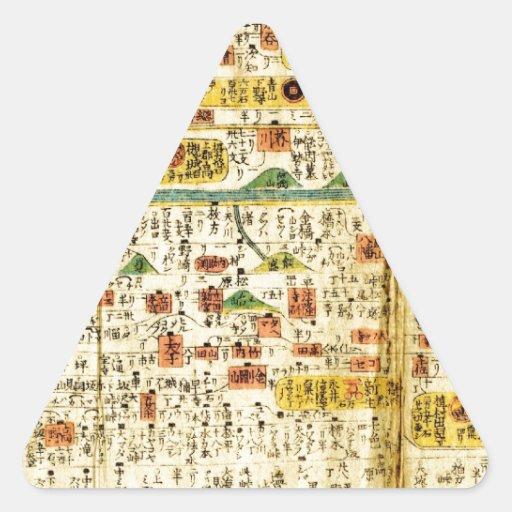 Old map Kansai Triangle Sticker