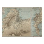 Old Map of Cape Town 19th Century Africa Poster