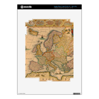Old Map of Europe Decal For iPad 3