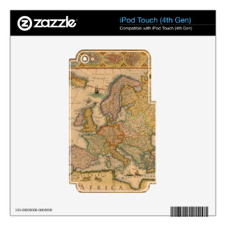 Old Map of Europe iPod Touch 4G Decal