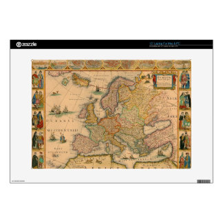 Old Map of Europe Skin For Laptop
