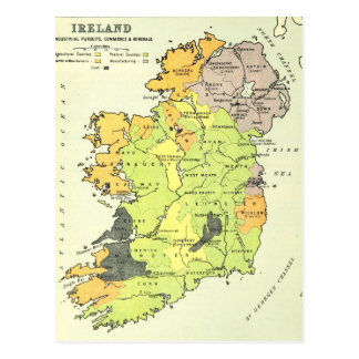 Old map of Ireland Postcard