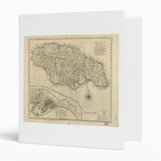 Old Map of Jamaica (1770) Binder