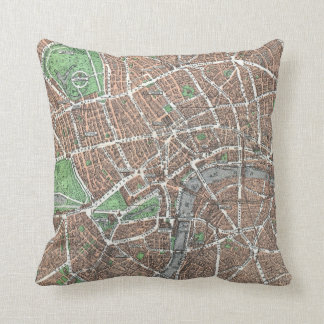 Old Map of London Pillows