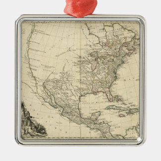 Old Map of North America (1783) Metal Ornament