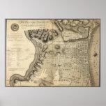 Old Map of Philadelphia Pennsylvania from 1796 Poster