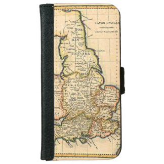Old Map Of Saxon England iPhone 6/6s Wallet Case