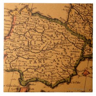Old map of Spain Ceramic Tile
