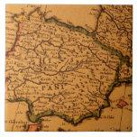 Old map of Spain Ceramic Tiles