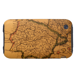 Old map of Spain iPhone 3 Tough Cover