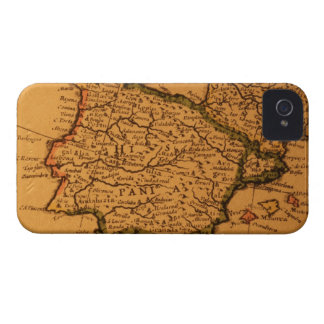 Old map of Spain iPhone 4 Case-Mate Case