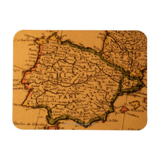 Old map of Spain Magnet