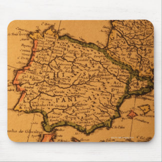 Old map of Spain Mouse Pad