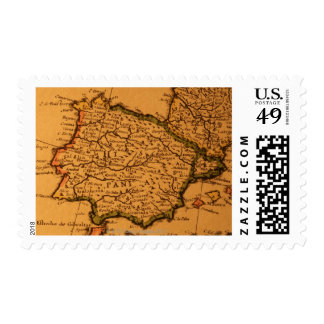 Old map of Spain Postage