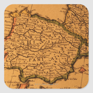 Old map of Spain Square Sticker