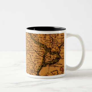Old map of Spain Two-Tone Coffee Mug