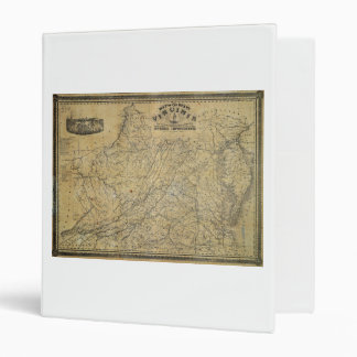 Old Map of the State of Virginia (1864) 3 Ring Binder