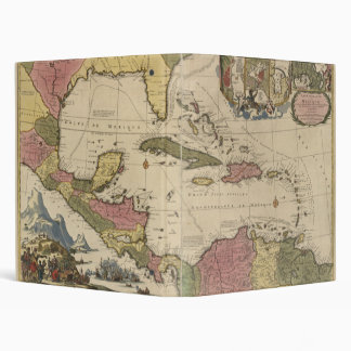 Old Map of the West Indies (1757) Binder