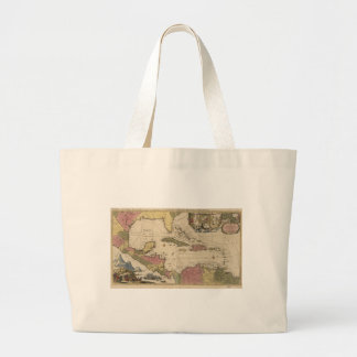 Old Map of the West Indies (1757) Large Tote Bag