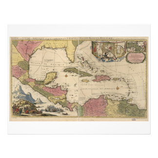 Old Map of the West Indies (1757) Letterhead