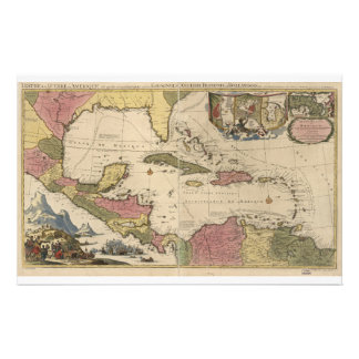 Old Map of the West Indies (1757) Stationery