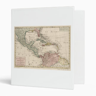 Old Map of the West Indies Caribbean (1765) 3 Ring Binder