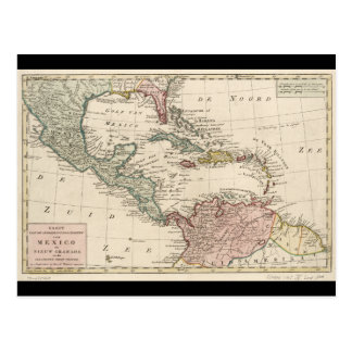 Old Map of the West Indies Caribbean (1765) Postcard