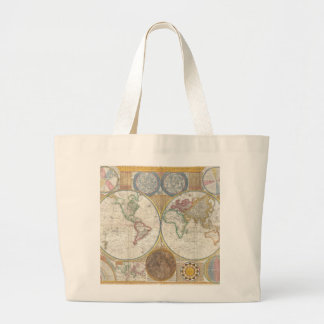 Old Map of the World Jumbo Tote Bag