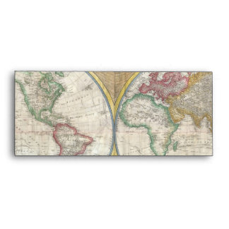 Old Map of the World Envelope