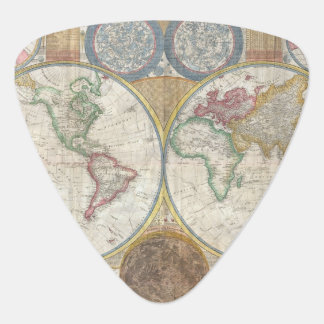 Old Map of the World Guitar Pick