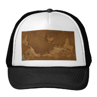 Old map of the world trucker hat