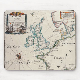 Old map of Western Europe Mouse Pad